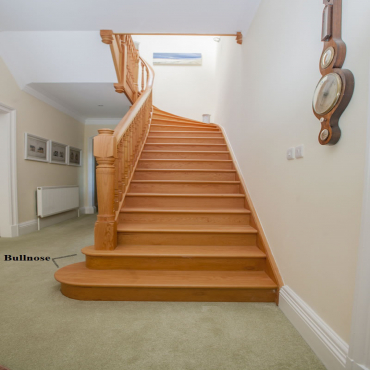 stairs and railings supplies Bullnose Left Red Oak Square Edge