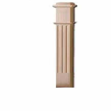 stairs and railings supplies Half Square Post Red Oak Fluted