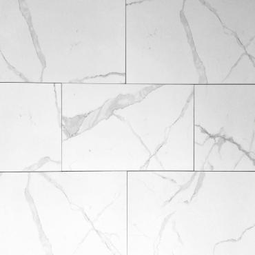 floor tiles wall tiles Statuario White Tru-Stone Porcelain 12x24 Gloss