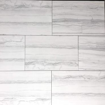 floor tiles wall tiles Ovation Silver Tru-Stone Porcelain 12x24 Gloss
