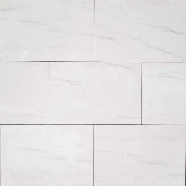floor tiles wall tiles Nuvolatto White Tru-Stone Porcelain 12x24 Smooth matt