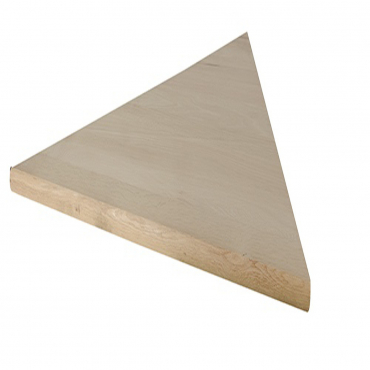 stairs and railings supplies Tread Left PIE Shape Red Oak Square Edge