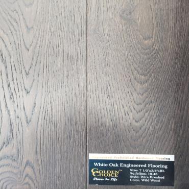 engineered Engineered White Oak Wild Wood Wirebrushed Hardwood Flooring