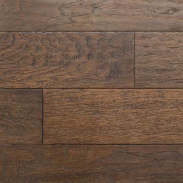 engineered Engineered Ambiance Hickory Rust Brown Wire Brushed Hardwood Flooring