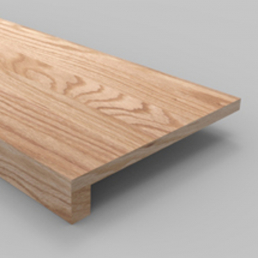 stairs and railings supplies Tread Box Red Oak Square Edge