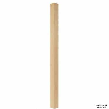 stairs and railings supplies Spindle Red Oak Square Plain