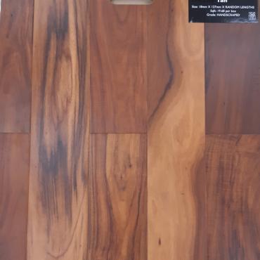 engineered Engineered NAF Tan Exotic Walnut Handscraped & Distressed Hardwood Flooring