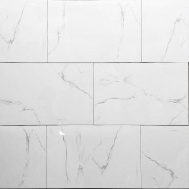 floor tiles wall tiles Bianco Tru-Stone Porcelain 12x24 Polished