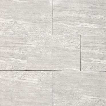 floor tiles wall tiles Meridian Silver Tru-Stone Porcelain 12x24 Polished