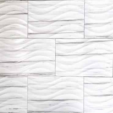 floor tiles wall tiles 3D Century White Wall Tru-Stone Porcelain12x24 polished
