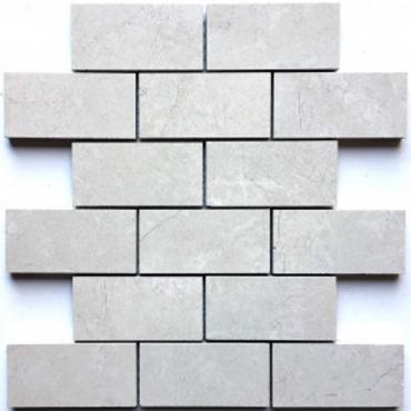 wall mosaics tiles Majestic Pearl Tru-Stone Mosaic Porcelain 2x4