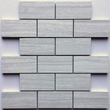 wall mosaics tiles Serenity Silver Grey Matte Tru-Stone Mosaic Porcelain 2x4