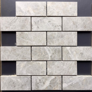 wall mosaics tiles Tundra Grey Matte Tru-Stone Mosaic Porcelain 2x4