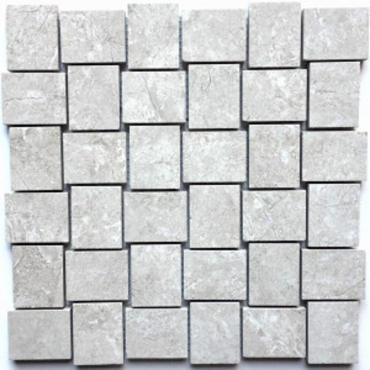 wall mosaics tiles Statuario Poolished Tru-Stone 2x2 Basketweave